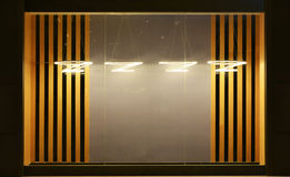 Empty shop window decorated with led droplight Royalty Free Stock Image