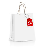 Empty Shopping Bag for advertising and branding Stock Images