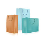 Empty Shopping Bag for advertising and branding Stock Photos