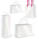 Empty Shopping Bag  set on white for branding Stock Photos