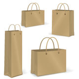 Empty Shopping Bag  set on white for branding Stock Images