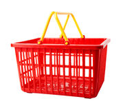 Empty shopping basket royalty free stock photos