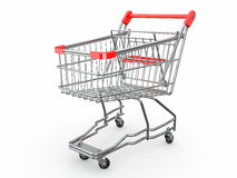 Empty shopping basket. 3d Royalty Free Stock Photos