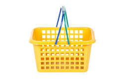 Empty shopping basket Stock Photo