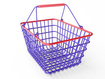 Empty shopping basket (color). Empty shopping basket on white background royalty free illustration