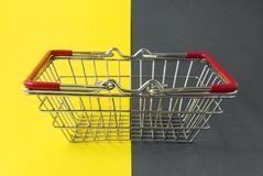 Empty shopping basket. Royalty Free Stock Photo