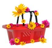Empty shopping basket Royalty Free Stock Image