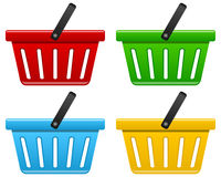 Shopping Basket Collection Royalty Free Stock Photography