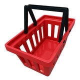 Empty Shopping Basket Isolated On White Stock Photography