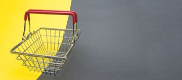 Empty shopping basket. Stock Photos