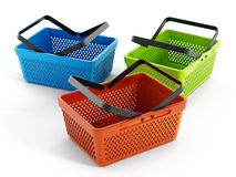 Empty shopping baskets Royalty Free Stock Photography