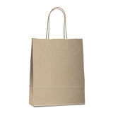 Empty shopping brown bag on white Stock Images