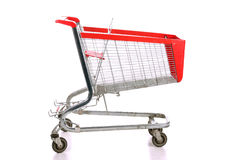 Empty a shopping cart Stock Photo