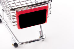 Empty shopping cart Royalty Free Stock Photos