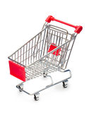 Empty Shopping Cart. With small shadow isolated on white background Stock Photo