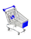 Empty Shopping Cart. With small shadow isolated on white background Stock Photography