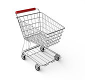 Empty shopping cart. On white background stock illustration