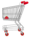 Empty shopping cart. Royalty Free Stock Image