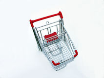 Empty shopping cart from above Stock Photo