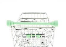 Empty shopping cart, back perspective Royalty Free Stock Photography