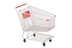 Empty shopping cart, 3D rendering Royalty Free Stock Images