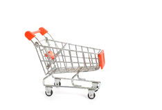 Empty Shopping Cart. Isolate on white Stock Images