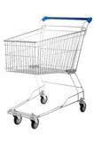 Empty shopping cart isolated Stock Photography