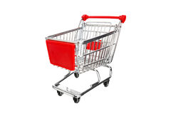 Empty shopping cart. Isolated on white Royalty Free Stock Photos