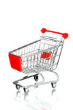 Empty shopping cart. Isolated on white Stock Images