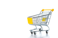 Empty shopping cart Stock Photo