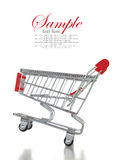 Empty shopping cart. Isolated on white background Stock Image