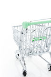 Empty shopping cart. Isolated on white background Royalty Free Stock Image