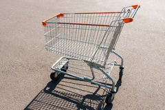 Empty shopping cart otdoors. Concept shopping Royalty Free Stock Photo