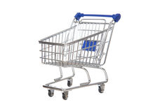 Empty shopping cart for sale isolated. On a white background Stock Photography