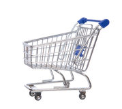 Empty shopping cart for sale. On a white background Royalty Free Stock Images