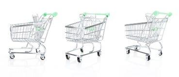 Empty shopping cart set, isolated on white Stock Images