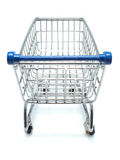 Empty shopping cart from shopper's view Stock Photos