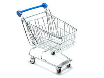 Empty shopping cart three-quarters view Stock Photo
