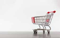 Empty shopping cart. To fill with any product Stock Photos