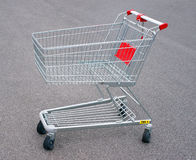 Empty shopping cart or trolley Royalty Free Stock Photos