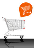 Empty Shopping Cart Vector 2 Stock Photo