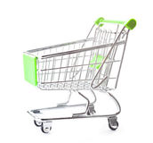 Empty shopping cart. On white Stock Photos