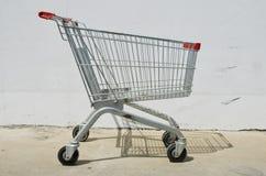 Empty shopping cart on white background Stock Photo