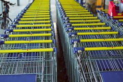 Empty shopping carts Stock Photography