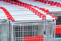 Empty shopping carts Stock Images