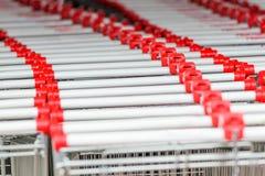 Empty shopping carts Royalty Free Stock Image