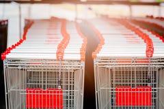 Empty shopping carts Stock Photo