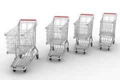 Empty shopping carts Royalty Free Stock Photography