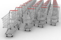 Empty shopping carts Royalty Free Stock Photography