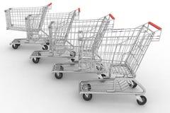 Empty shopping carts Stock Photos